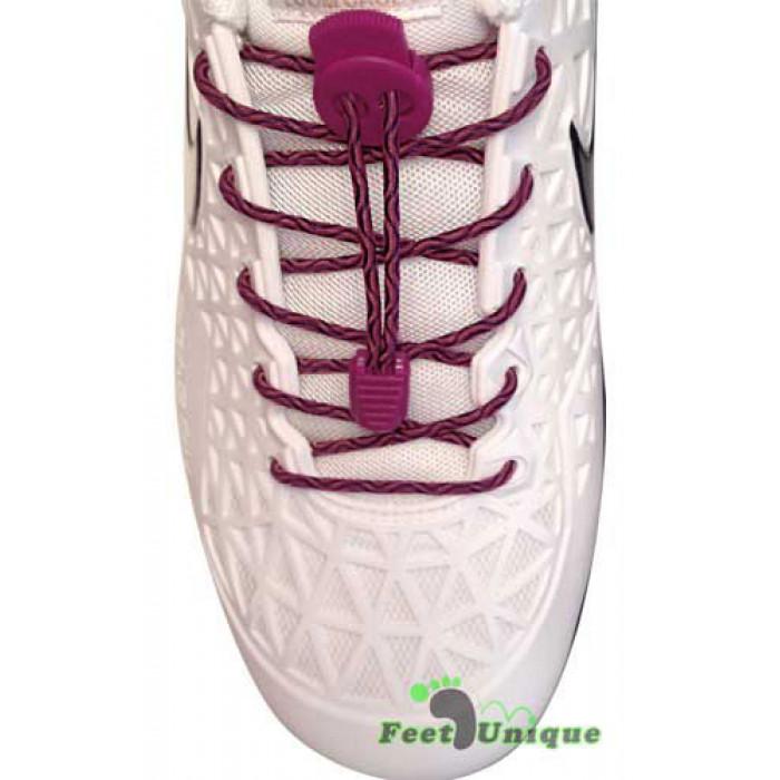 Lacets élastiques rose fushia avec lock