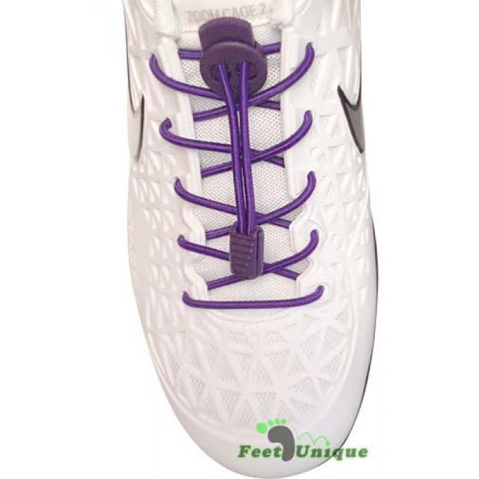 Lacets élastiques violet avec lock