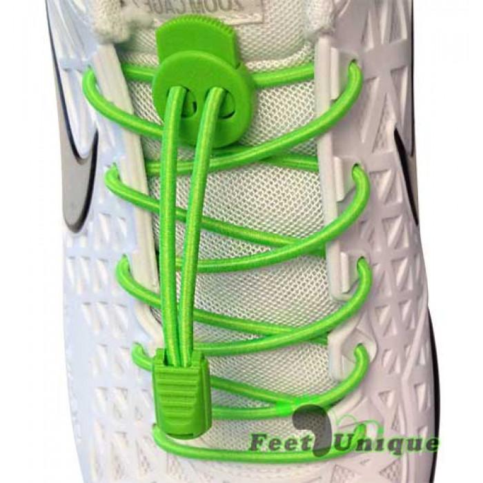 Lacets élastiques vert avec lock