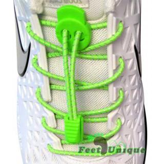 Lacets élastiques vert fluo avec lock