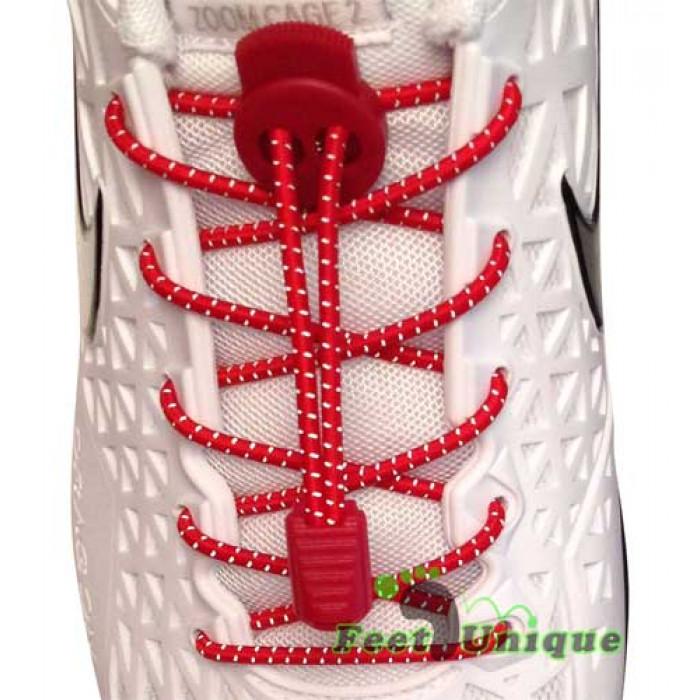 Lacets élastiques rouge avec lock