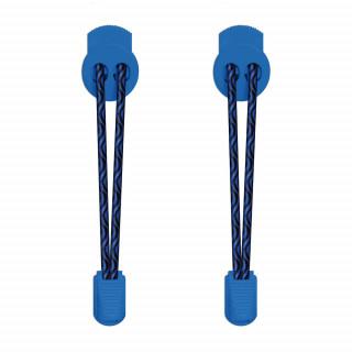Lacets élastiques noir et bleu avec lock