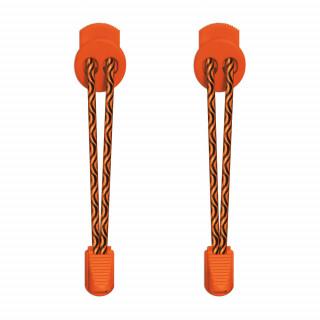 Lacets élastiques noir et orange avec lock