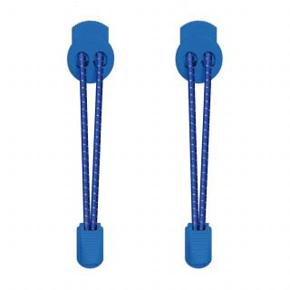 Lacets élastiques bleu avec lock