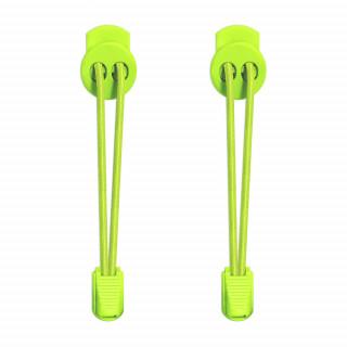 Lacets élastiques jaune fluo avec lock