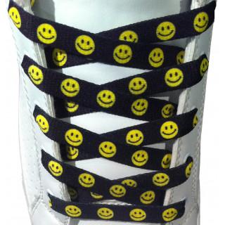 Lacets plats motif Smileys