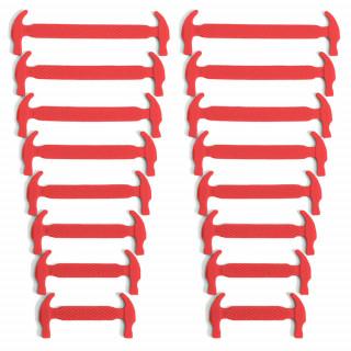 Lacets élastiques en silicone rouge