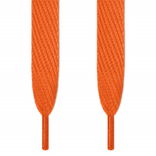 Lacets plats extra large orange