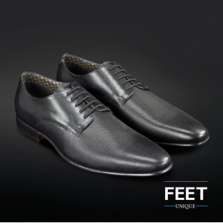 """Lacets """"sans noeud"""" noirs pour chaussures de ville"""