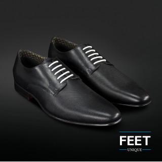 """Lacets """"sans noeud"""" blancs pour chaussures de ville"""