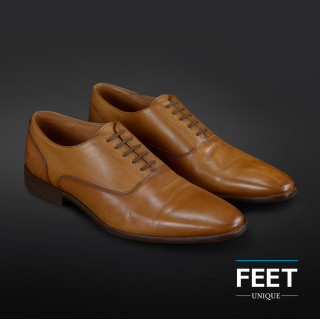 """Lacets """"sans noeud"""" marron foncé pour chaussures de ville"""
