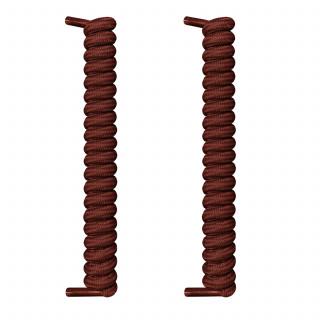 Lacets à spirales brun foncé