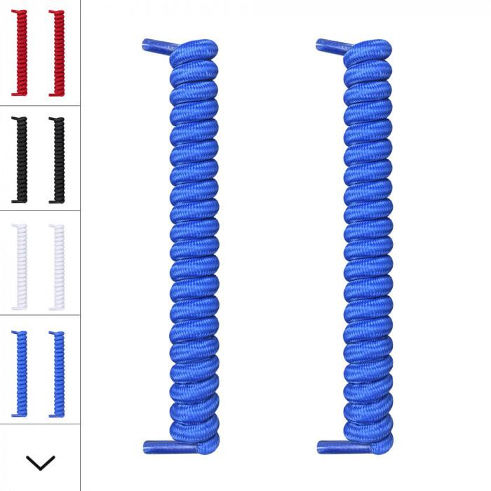 Lacets à spirales bleu