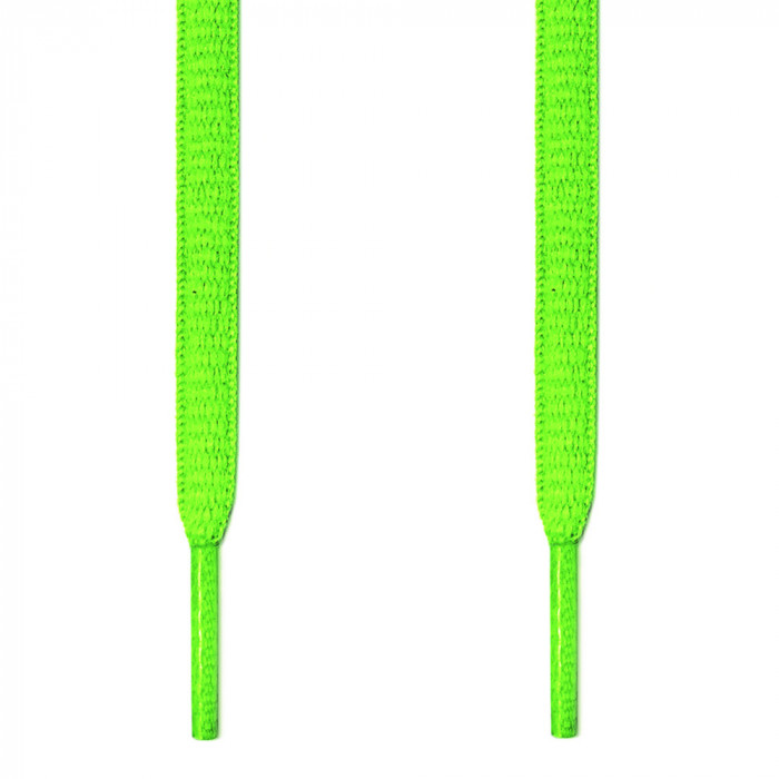 Lacets ovales vert fluo