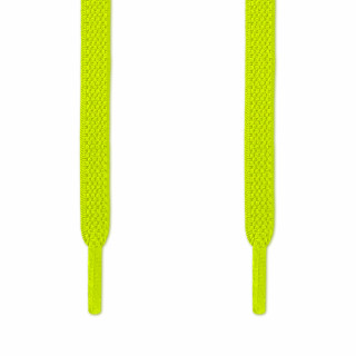 Lacets plats élastiques jaune fluo (sans noeud)