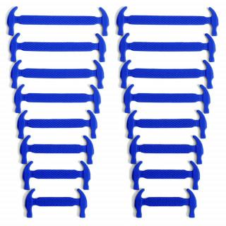 Lacets élastiques en silicone bleu