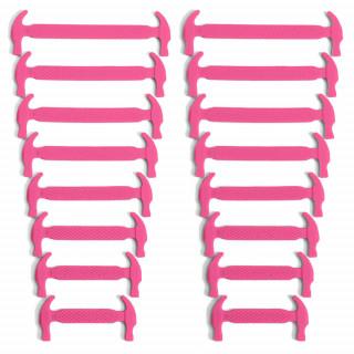 Lacets élastiques en silione rose fluo