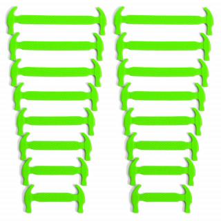 Lacets élastiques en silicone vert fluo