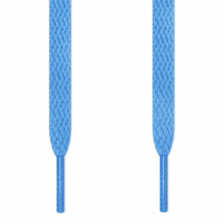 Lacets plats bleu clair
