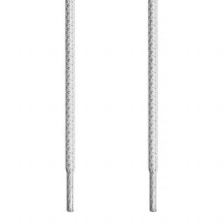 Lacets tressés gris clair et blanc