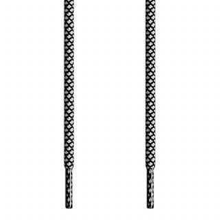 Lacets tressés noir et blanc