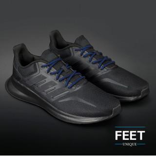 Adidas Yeezy - Lacets tressés noir et bleu